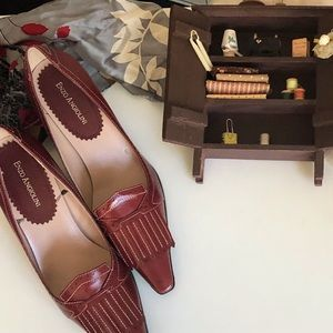 Enzo Angiolini Red Leather loafers • 8.2
